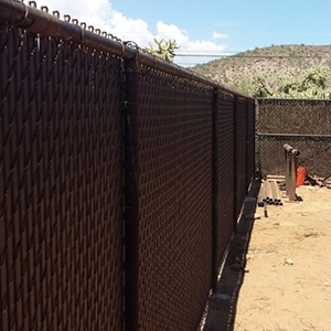 Tonto Steel Fence Staining Project