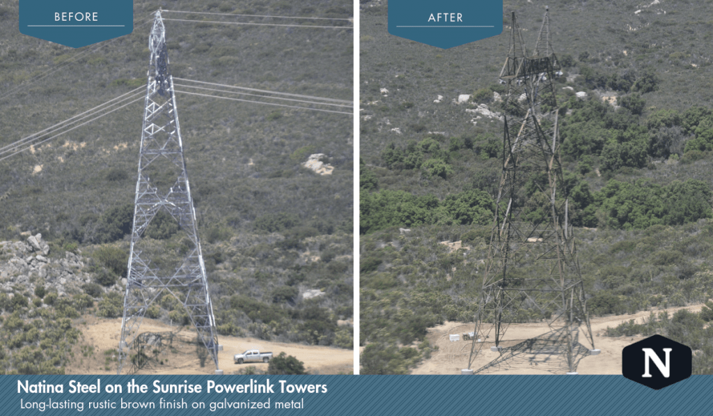 Natina Steel Solution on the Sunrise Powerlink Transmission Towers